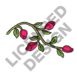 ROSEBUDS ON VINE embroidery design