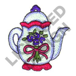 TALL TEAPOT embroidery design