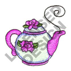 FLORAL TEAPOT embroidery design