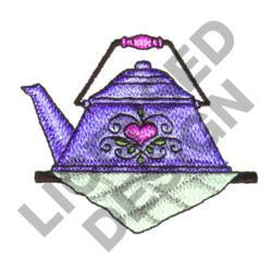 TEA KETTLE ON SHELF embroidery design