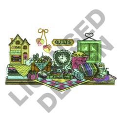 QUILTERS SHELF embroidery design
