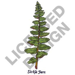 SICKLE FERN embroidery design
