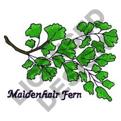 MAIDENHAIR FERN embroidery design