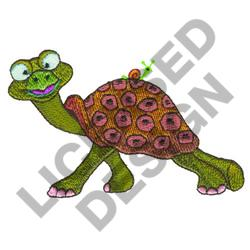 TURTLE WITH SNAIL embroidery design
