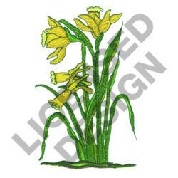 daffodil machine embroidery design