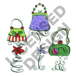 PURSES ON STANDS embroidery design