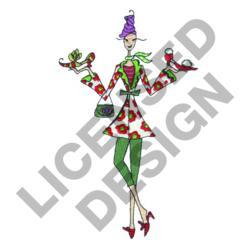 LULU SHOE SHOPPING embroidery design