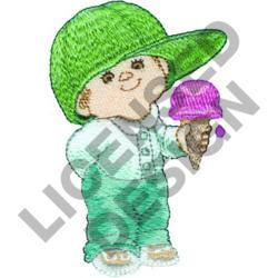 BOY WITH ICE CREAM embroidery design