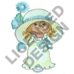 GIRL IN WHITE DRESS embroidery design