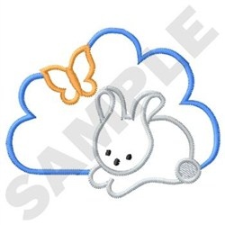 Bunny And Butterfly embroidery design