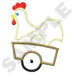 Chicken In Cart embroidery design