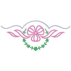 Ribbon Floral Border Embroidery Designs Machine