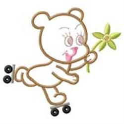 Bear On Skates embroidery design
