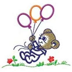 Bear W/ Balloons embroidery design