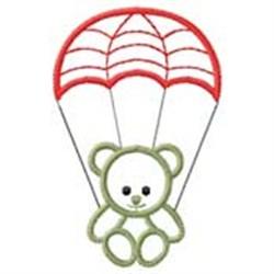Bear W/ Parachute embroidery design