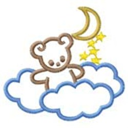 Bear In Clouds embroidery design