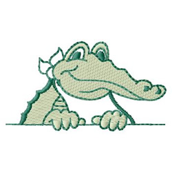 Machine Embroidery Designs at Embroidery Library ...  |Alligator Design Embroidery Floss