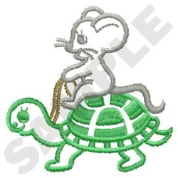 Turtle & Mouse embroidery design