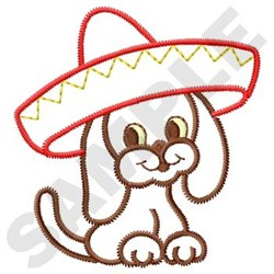 Sombrero Puppy embroidery design