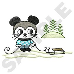 Winter Mouse embroidery design