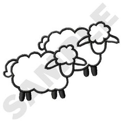 Sheep Outline embroidery design