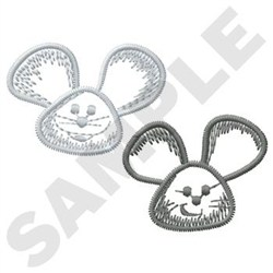 Two Mice embroidery design