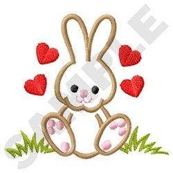 Love Bunny embroidery design