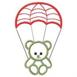 Bear W/ Parachute embroidery design