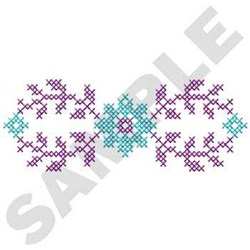 Floral Cross Stitch embroidery design