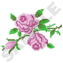 Cross Stitch Roses embroidery design