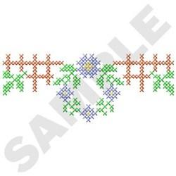 Cross Stitch Wreath embroidery design