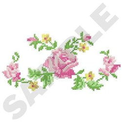 Rose Cross Stitch embroidery design