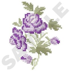 Cross Stitch Rose embroidery design