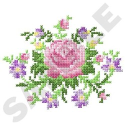 Cross Stitch Florals embroidery design