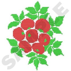 Cross Stitch Berries embroidery design