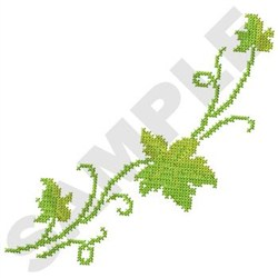 Cross Stitch Vine embroidery design