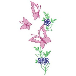 Butterfly Floral Embroidery Designs Machine Embroidery