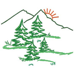 Pine Trees embroidery design