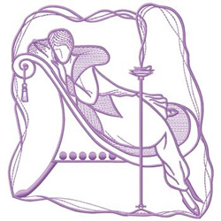 Reclining Lady embroidery design