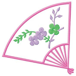 Hand Fan embroidery design