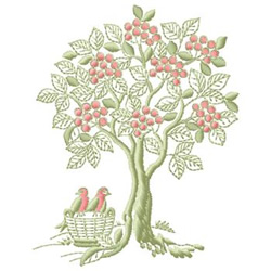 Fruit Tree embroidery design