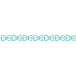 Bow Border embroidery design