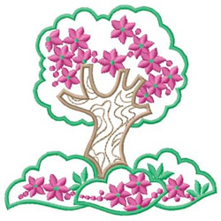 Flowering Tree embroidery design