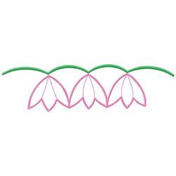 Tulip Border embroidery design