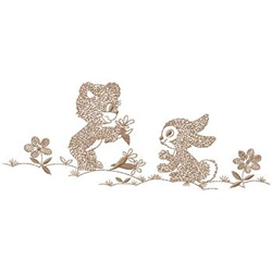 Bear And Bunny embroidery design