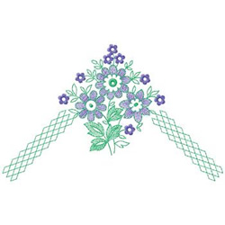 Flowers In Corner embroidery design