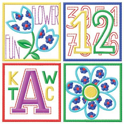 Alphabet Block embroidery design