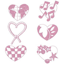World Love embroidery design