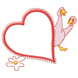 Heart And Geese embroidery design