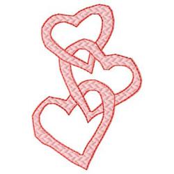Heart Chain embroidery design